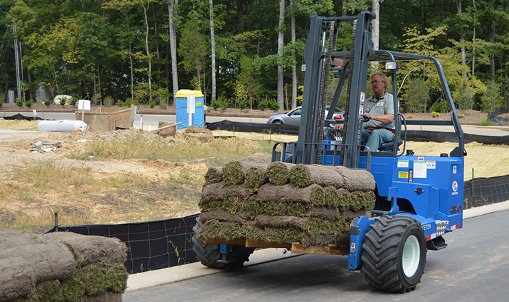 Sod Pallet On Forklift